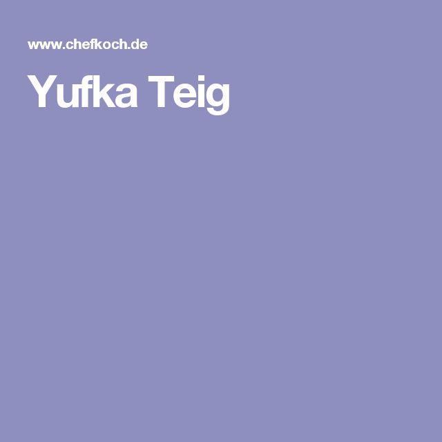 Yufka Teig