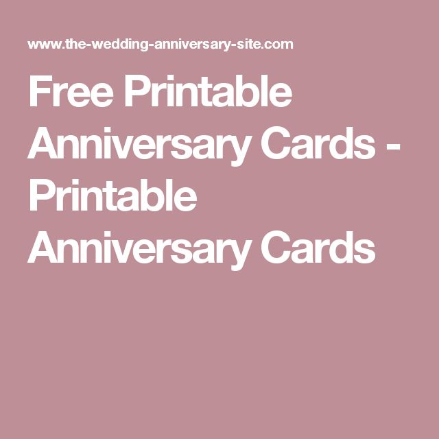 Free Printable Anniversary Cards - Printable Anniversary Cards