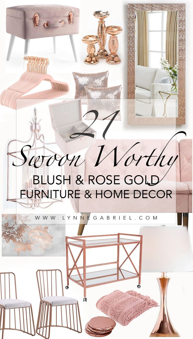 21 Swoon Worthy Blush And Rose Gold Furniture And Home Decor You Will Ever Find Whatever Is Lovely Rose Gold Furniture Gold Home Decor Gold Furniture