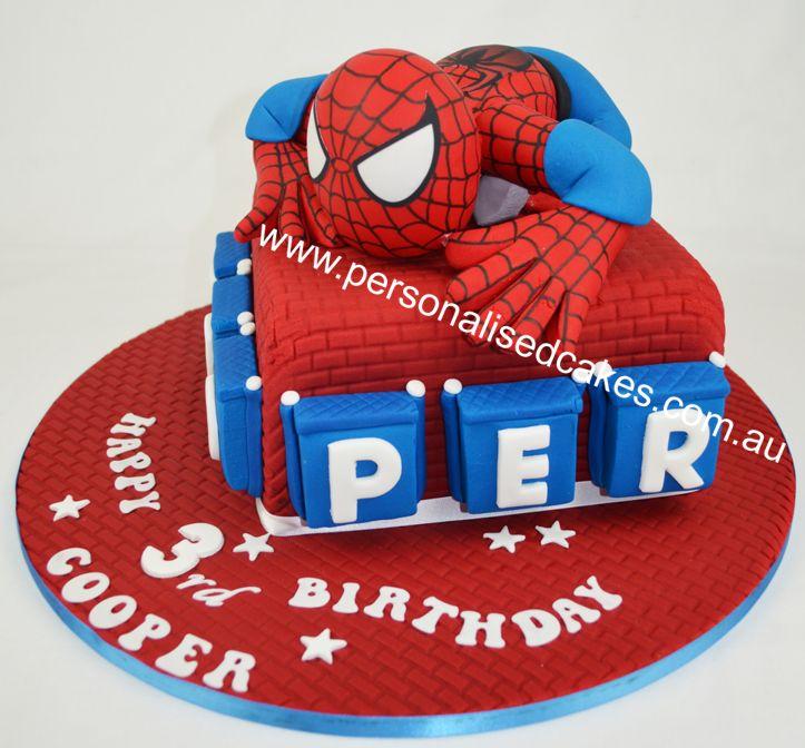 20 best spiderman cake images on Pinterest Spiderman birthday