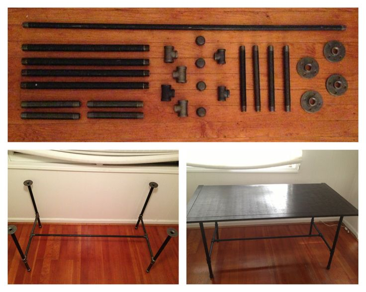 Diy Industrial Galvanized Pipe Desk Make The Base From