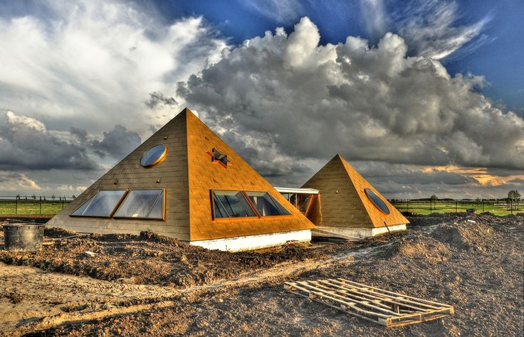 Pyramid home in Almere, The Netherlands #ourfavouritethings #pyramids #netherlands #ancientarchitecture #modernarchitecture #architecture