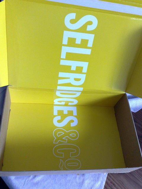Selfridges online delivery packaging. Inside of the box has just as much thought as the outside.