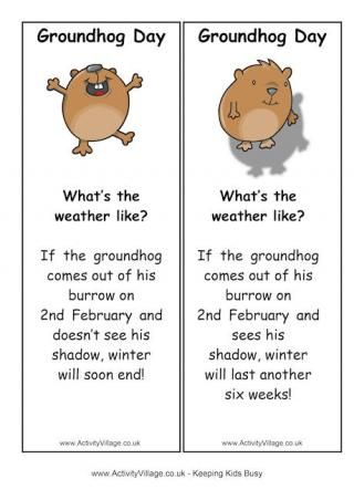Ground Hog Day Printables  #FLVS #printables #GroundHog