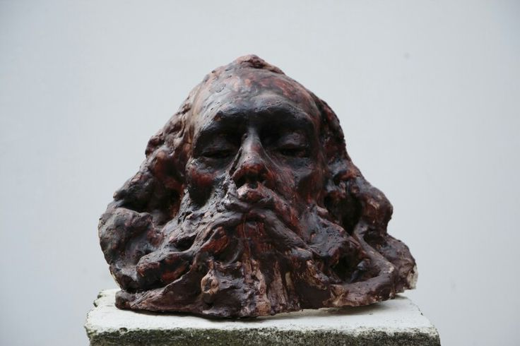 """""""The thought""""- wax on plaster #sculpture #academy # prague"""