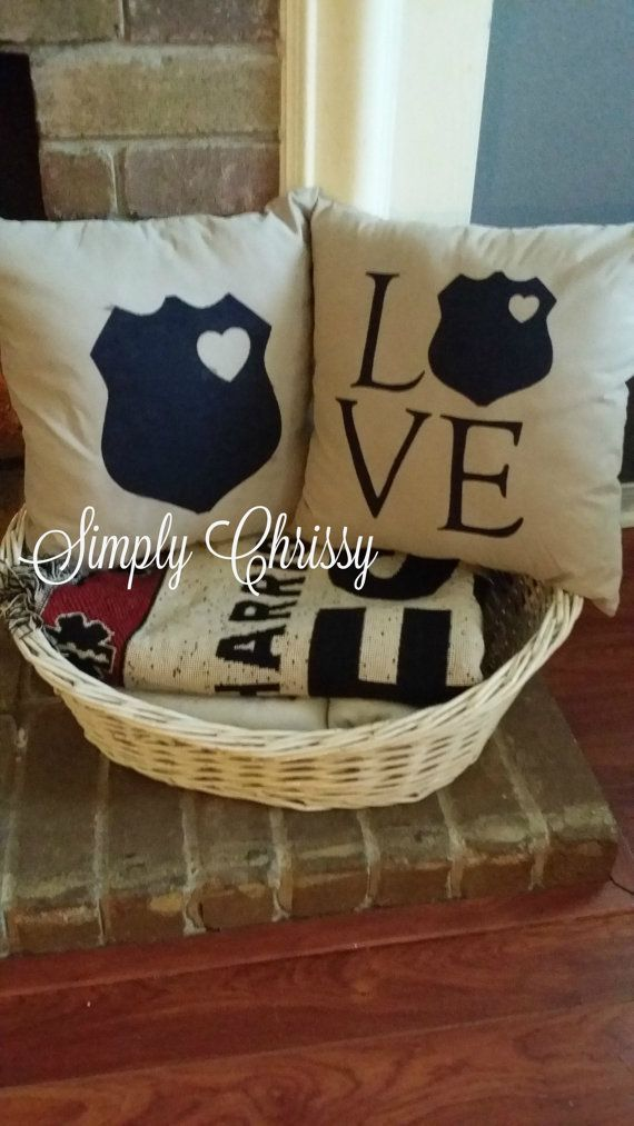 Police LOVE Pillow Set Limited Quantity by SimplyChrissy1 on Etsy