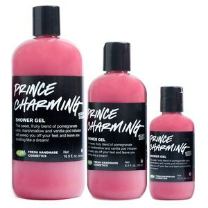 Prince Charming Shower Gel - Fresh grapefruit and pomegranate body wash sweeps you off your feet! A new, limited edition Valentine's Day treat.
