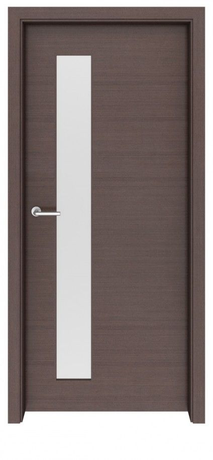 Wenge Graphite Carmel Glass Interior Door
