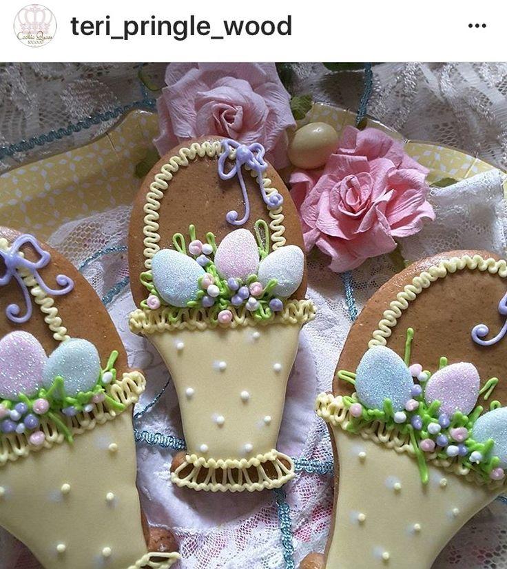 Easter basket with eggs; cookies by Teri Pringle Wood