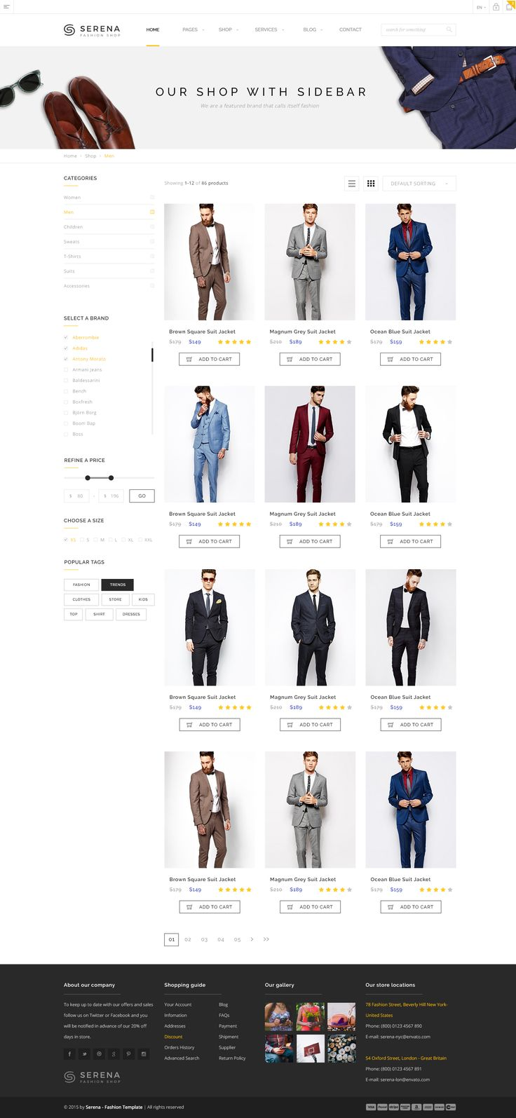 Overview Serena is a PSD template for fashion shops and ecommerce websites. It is a highly suitable template for all types of ecommerce. It has flat and purpose oriented design, responsive...