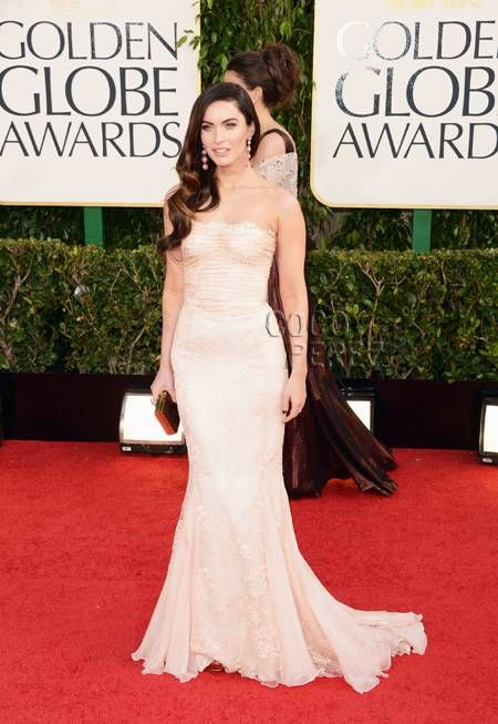 Megan Fox in Dolce & Gabbana at the 2013 Golden Globe Awards via Coco Perez