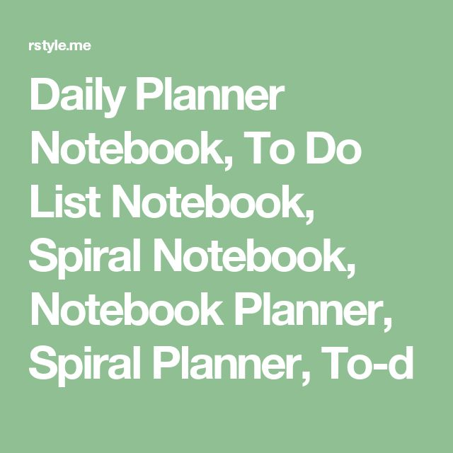 Daily Planner Notebook, To Do List Notebook, Spiral Notebook, Notebook Planner, Spiral Planner, To-d