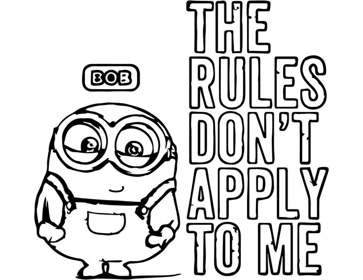 Coloring Pages Minions Bob 4 1650x1275