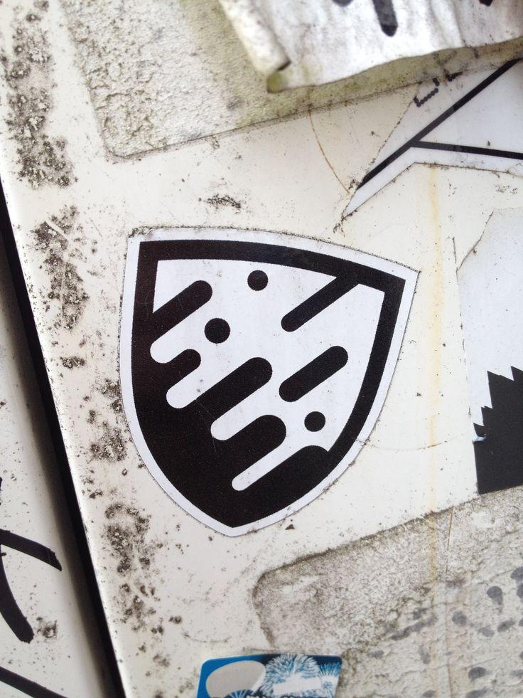 Street art sticker in shibuya tokyo