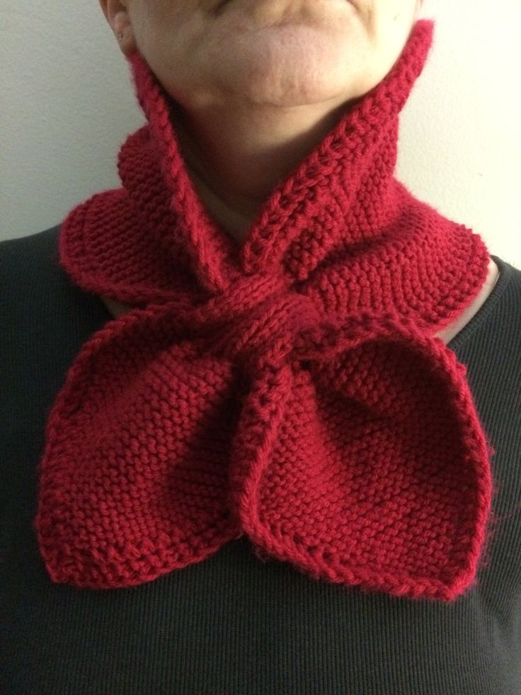 Cranberry Loop Scarf Neck warmer Hand Knit Birthday by CozeeQuilts