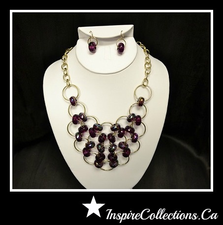 Beautiful Set With purple ~ Inspire Collections by Marilyn  https://www.facebook.com/InspireCollectionsBiz