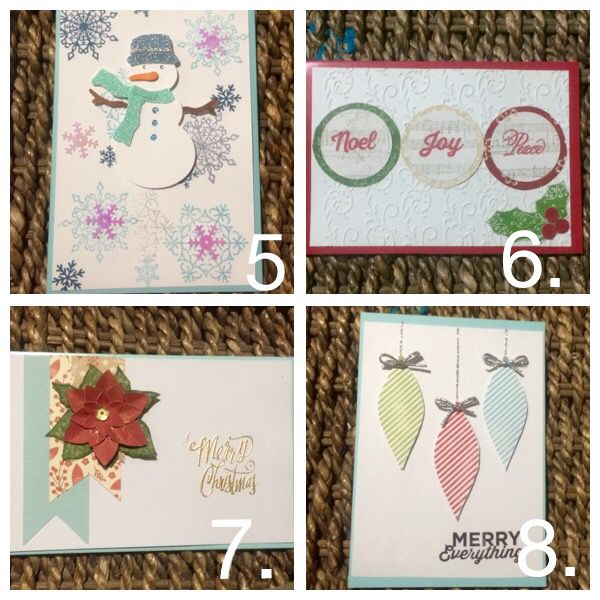 Twinkle stamp cards