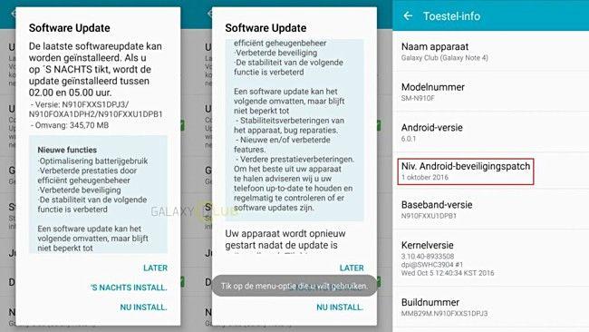 Globalwork Notizie dal Mondo patch di sicurezza ottobre inizia a colpire Samsung Galaxy Note 4 https://plus.google.com/+Globalworkmobilecom/posts/Xgx7QaqLHJ4