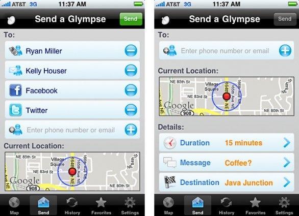 Glympse, una app de geolocalización para Android