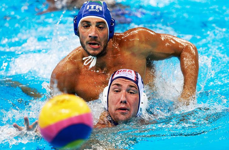 Christian Presciutti Photos - Alex Obert of the USA is challenged by ; Christian Presciutti of Italy during the USA vs Italy Waterpolo group match at Julio de Lamare Aquatics Centre on August 14, 2016 in Rio de Janeiro, Brazil. - Water Polo - Olympics: Day 9