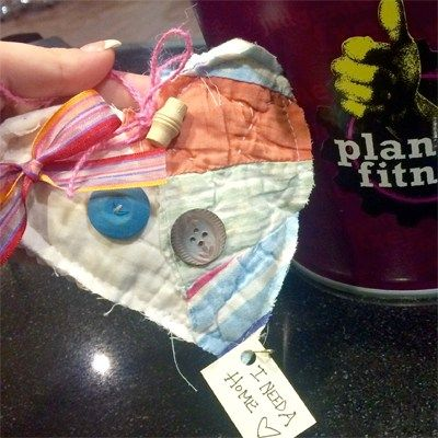 I work third shift at Planet Fitness in Hixson and when I went to clean the restroom, I saw the heart hanging on the coat hanger. I took it to the front desk and showed my coworker and friends. This really made my night! #ifaqh #ifoundaquiltedheart