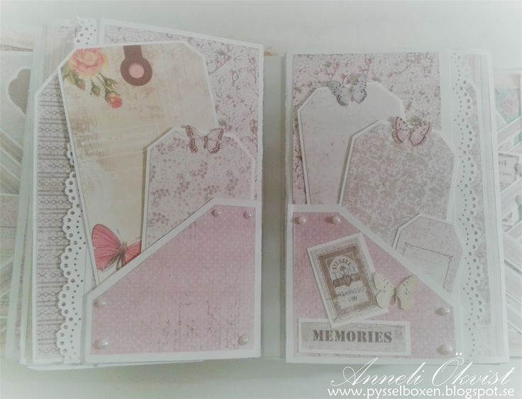 Mini Album - Vintage Spring Basic and Vintage Summer Basic paper collection from Maja Design 6 3/4 x 5 inch in size 14