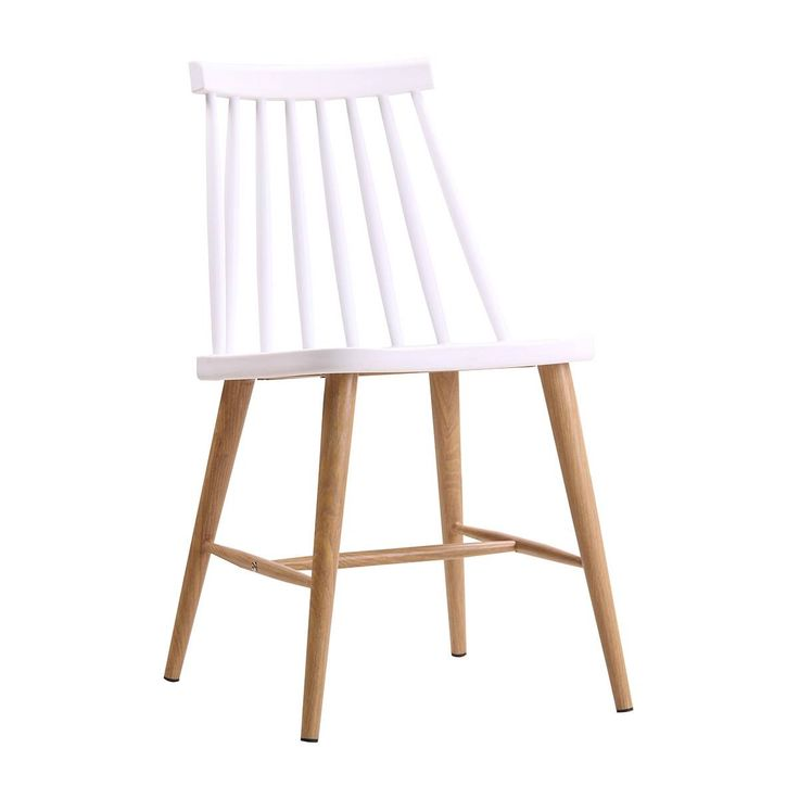 Browse Modern Dining Chairs Online or Visit Our Showrooms To Get Inspired With The Latest Dining Chairs From Life Interiors - Olivia Spindle Dining Chair (Oak, White)