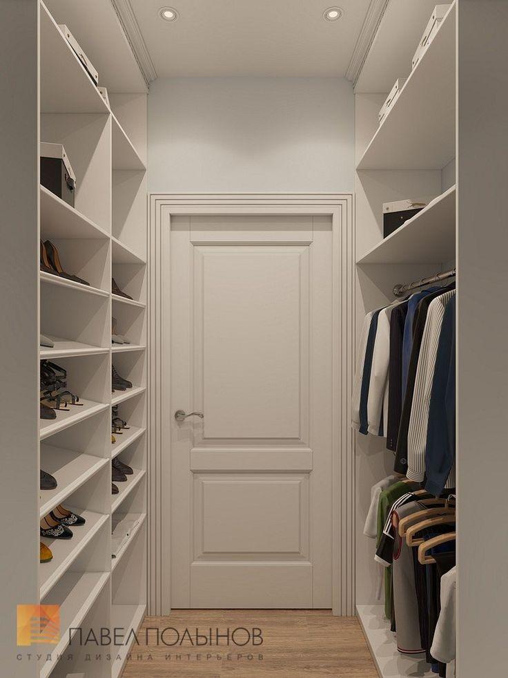 Фото: Дизайн интерьера гардеробной - Интерьер загородного дома в стиле американской неоклассики, п. Токсово, 215 кв.м.