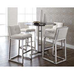 Sunpan Alba Counter Height Pub Table Set