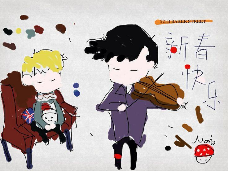 Sherlock wish new year resolution,haha  Happy Chinese new year