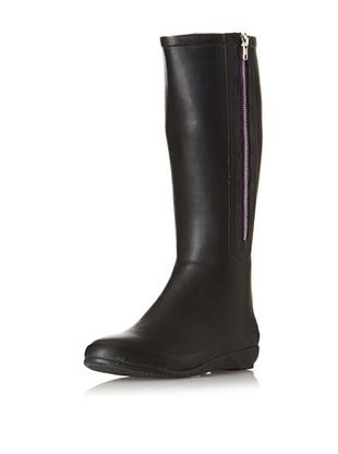 Chooka Women's Side Zip Solid Rain Boot