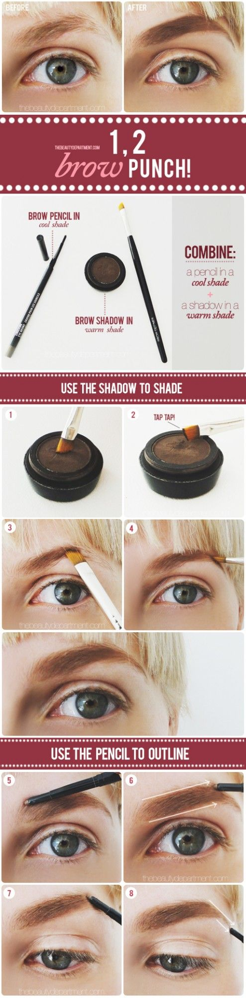 This is how I fill in my brows! But I use #younique liner brush and #younique pigments https://www.youniqueproducts.com/christinamessina/account/myparties