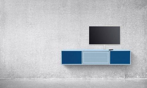 TV-benk med innebygd høytaler og forsterker - et alt i et produkt med suveren lyd!