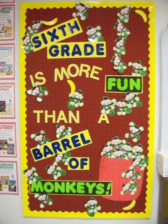 Bulletin Board - board game theme - Barrel of Monkeys