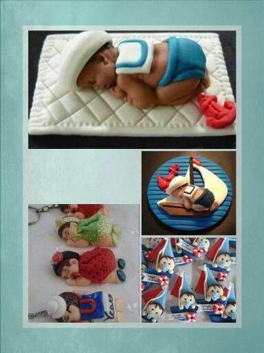 Bebe colita marinero idea de souvenir nacimiento en porcelana fria