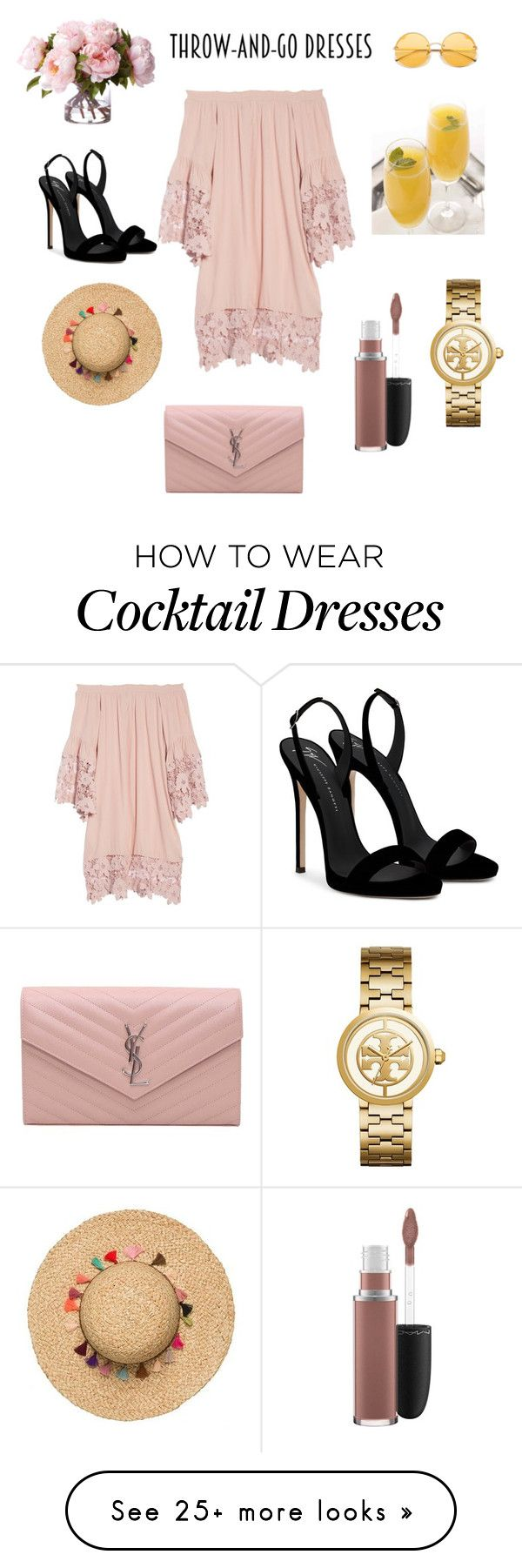 """Nude vibes"" by irena-dimova on Polyvore featuring Muche Et Muchette, Giuseppe Zanotti, Yves Saint Laurent, Tory Burch and MAC Cosmetics"