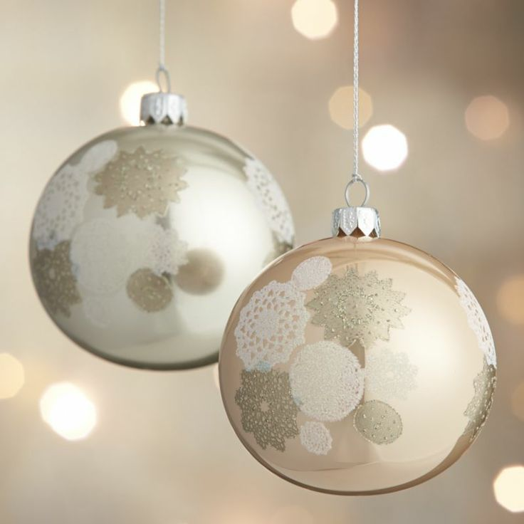 Decorative Christmas Ball Ornaments 12 Best Champagne Xmas Images On Pinterest  Diy Christmas
