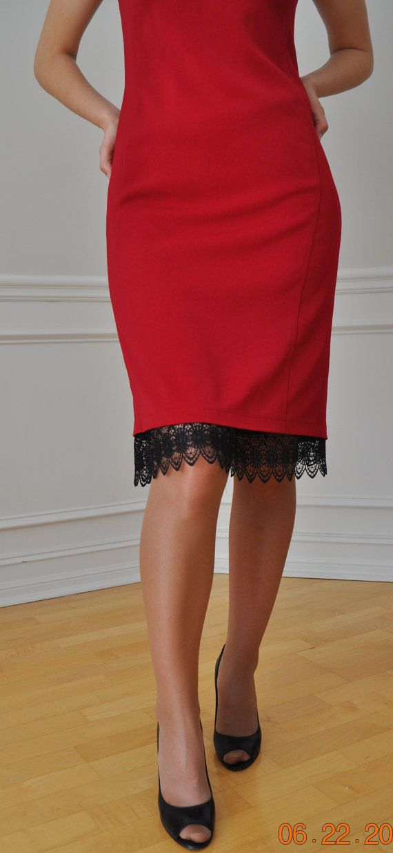 SALE  Black Venise Lace Trimmed  Slip XS S M L XL by vezanie, $28.00