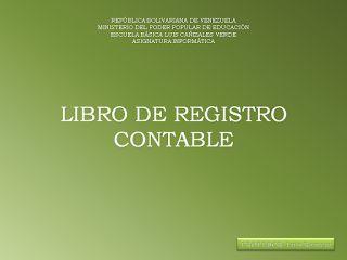 Profesor Luis Romero: Estructura de los libros contables