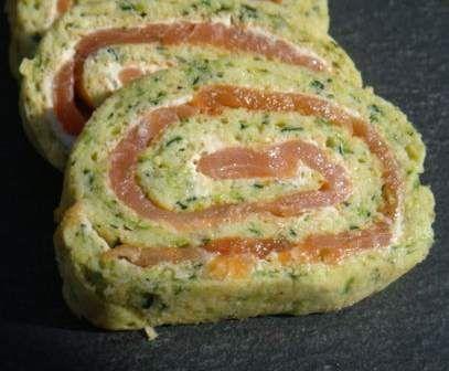 Recette Roulés aux courgettes et saumon fumé par Clotilde74 - recette de la catégorie Entrées