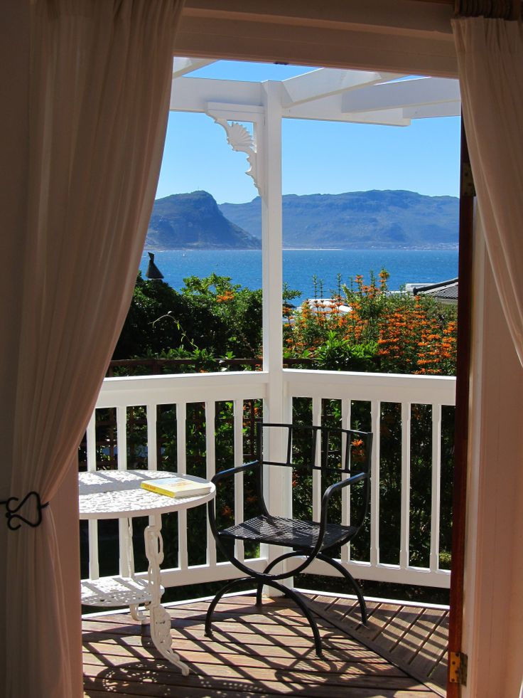 Self catering accommodation, Simon's Town, Cape Town   Cottage A's balcony view  http://www.capepointroute.co.za/moreinfoAccommodation.php?aID=423