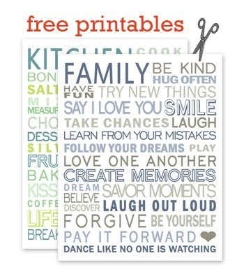 Free subway art printables