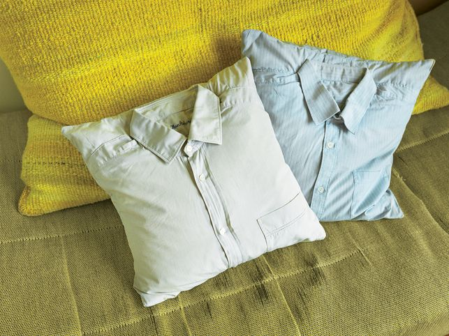 bed pillows made from shirts