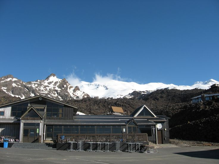 Ski field, North Island, Mount Ruapehu. Halloween weekend - at that time Skiing season in North Island is finished