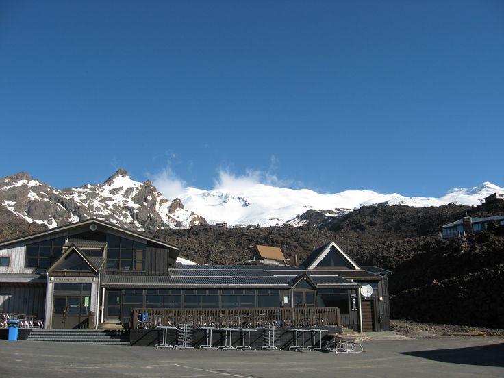 Ski field, North Island, Mount Ruapehu. Halloween weekend - at that time Skiing season in North Island is finished