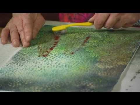 Textile Art Using Velvet With Textile Artist Angie Hughes - Woodblock Pr...