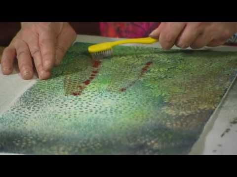 The inspiring Angie Hughes adding texture to velvet. Video available at www.artisticartifacts.com