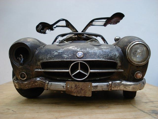 Mercedes Gullwing- There's something about this look for me. Where the car has a story, rather than just being remade to look new.