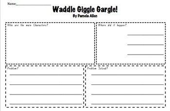 Waddle Giggle Gargle by Pamela Allen- Narrative story Elem