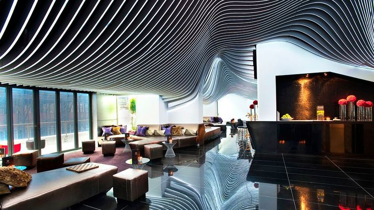 W new york city hotel interiors living room bar and for W living room verbier
